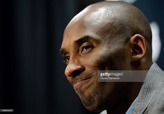 Kobe Bryant #24 of the Los Angeles Lakers speaks during a news conference after…