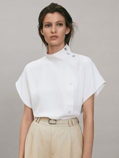 Fashion Desinger, Mode Jeans, White Shirts, Trendy Tops, Minimal Fashion, Fashion 2020, Fashion Details, Spring Summer Fashion, Blouse Designs