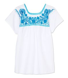 Shop Latitude Bazaar Floral Mexican Blouse - Find your inner flower child and shop more summer festival looks: http://www.harpersbazaar.com/fashion/fashion-articles/how-bazaar-flower-child-chic