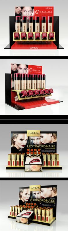 Displays for L'oreal on Behance