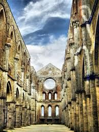 Amazing view of San Galgano Abbey