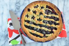 This pie is inspired by the 4th of July holiday, and is infused with fresh rosemary leaves to enhance the taste of the blackberries.