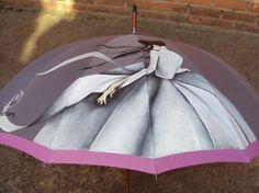paraguas  paraguas.,pintura para tela. pintado a mano alzada.