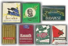 Cigaretták amelyeket a mi korosztályunk ismer, a fiatalabbak meg tanulhatnak. Cigarette Brands, Budapest Hungary, Illustrations And Posters, Retro Vintage, Tarot, Sci Fi, Childhood, Flag, Memories