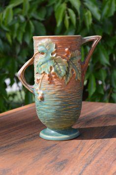 Roseville Vase Roseville Pottery antique by Austinmodernvintage, $95.00