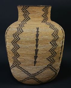 Apache Native American Indian Baskets - Apache Olla