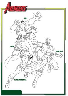 Marvel Avengers Captain America Coloring Page | Printable Coloring ...