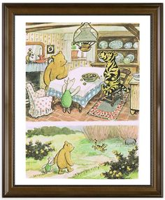 WP 00 An exclusive limited design classic Winnie The Pooh vintage art print by Serendipity Paperie available in different sizes and format. This is a high quality colourful art print inspired by vintage classic Winnie The Pooh story by E. A. A. Milne (Author) and H. Shepard (Illustrator). This is not Disneys adaptation of Pooh bear and friends.  ➊ Prices, Sizes and materials (All prices are in GBP) 8 X 10 prints Poster Matte, 210gsm / £7 per print Poster Gloss, 210gsm / £7 per print Card…