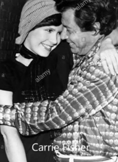 Carrie Fisher and father Eddie Fisher 1974 Debbie Reynolds Carrie Fisher, Carrie Frances Fisher, Old Hollywood Actresses, Eddie Fisher, Star Wars Girls, Space Girl, Geek Girls, Beautiful Person, Carry On