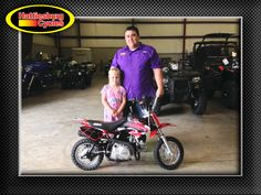 Thanks to Ashlan and Donald Hickman from Collins MS for getting a 2017 SSR SR70 Auto @HattiesburgCycles. Happy 6th birthday, Ashlan!