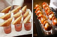 wedding appetizer ideas - tomato basil and grilled cheese/shrimp cocktail (Grilled Cheese Dippers) Shot Glass Appetizers, Appetizers For Party, Appetizer Ideas, Tomato Appetizers, Yummy Appetizers, Grilled Cheese With Tomato, Mini Grilled Cheeses, Wedding Appetizers, Easy Party Food