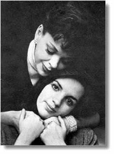 Judy Garland and Liza Minnelli - mother daughter or mother son pose