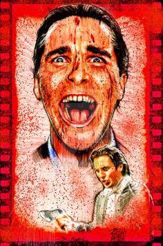 Horror Movie Poster Art : American Psycho 2000 by @ deviantart Horror Movie Posters, Movie Poster Art, Horror Movies, American Psycho, Christian Bale, Comics, Painting, Deviantart, Film