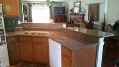 Wildwood  LG Viatera quartz kitchen countertop install for Buuck. Knoxville's Stone Interiors. Showroom located at 3900 Middlebrook Pike, Knoxville, TN. www.knoxstoneinteriors.com. Estimates available, call 865-971-5800.