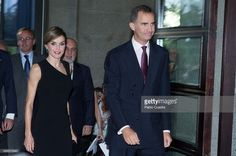 Queen Letizia of Spain (L) and King Felipe VI of Spain (R) attend the Royal Theatre new season inaguration on September 22, 2015 in Madrid, Spain.