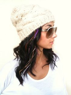 BEST LONG Purple 6 Feather Hair Extension Salon Grade by futska, $8.00