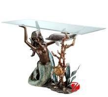 Bronze Mermaid Table Base www.mermaidhomedecor.com - Mermaid Furniture