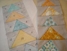 Make a Flying Geese Paper Pieced Pattern | FaveQuilts.com