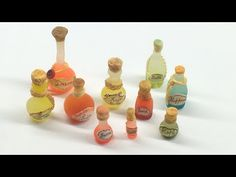Miniature Wish Bottles- Polymer clay and latex molds (Tutorial) - YouTube