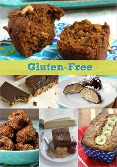 20 recipes for gluten free baking including muffins, brownies, granola bars, banana breadand gingerbread