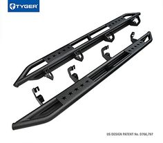 Tyger Auto TG-AM2C20128 Star Armor Kit for 2007-2017 Chevy Silverado / GMC Sierra 1500 2500 3500 Crew Cab | Textured Black | Side Step Rails | Nerf Bars | Running Boards. For product info go to:  https://www.caraccessoriesonlinemarket.com/tyger-auto-tg-am2c20128-star-armor-kit-for-2007-2017-chevy-silverado-gmc-sierra-1500-2500-3500-crew-cab-textured-black-side-step-rails-nerf-bars-running-boards/