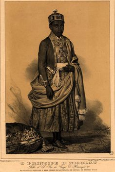 "morgynleri: ""medievalpoc: ""diasporicroots: "" Kongo prince, Dom Nicolau Westernized Nicolau I of Kongo (Also known as Nicolau I Misaki mia Nimi) (Ruled 27 August "" Can anyone read the tiny print along the bottom of this image? African Culture, African American History, African Art, African Dress, European History, Ancient History, Art History, Ancient Egypt, Ancient Aliens"