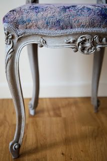 'Thistle'  www.emmajunedesigns.co.uk www.emmajunedesigns.blogspot.com Vanity Bench, Chair Design, Etsy Seller, June, Chairs, Furniture, Home Decor, Decoration Home, Room Decor