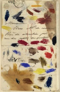 A letter from artist Eugene Delacroix to his paint dealer, 1827.