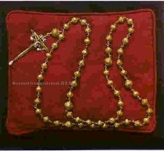 Gold and enamel rosary beads carried by Mary, Queen of Scots at her execution.