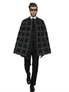 Wool Tartan Cape by Valentino - Feeling lucky punk? *snickers* Yes I know he wasn't wearing a poncho just let me have my fun. I'll go back to my corner now...
