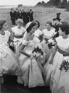 Jacqueline Bouvier Kennedy And Her Bridal Party