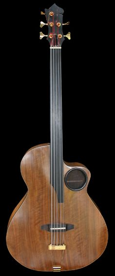 Frazier Fretless 5str Bass, luthier David Frazier