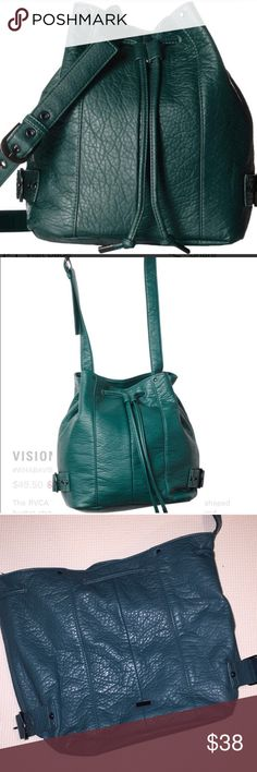 RVCA Bucket Bag- Like New! Only used a couple times— Buttery soft dark teal green RVCA bucket bag. Like New! RVCA Bags Crossbody Bags
