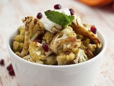 """Cook the Book: Cumin Seed Roasted Cauliflower with Salted Yogurt, Mint, and Pomegranate Seeds   Serious Eats: Recipes - Mobile Beta!"""""""