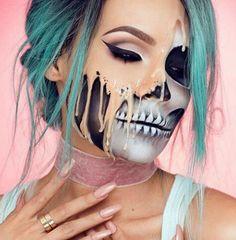Der Tag des Grauens rückt immer näher und auf Instagram wird daher ein neuer Make-up-Trend für Halloween ausgerufen: Melting Faces, also Gesichter, die wie weggeschmolzen wirken, sind dieses Jahr der letzte Schrei - ob nur aufgeschminkt oder mit Special-Effekt-Make-up.