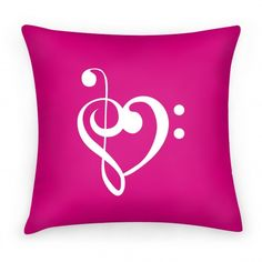 Love Music Pillow. Way better than getting a tattoo that EVERYONE IN THE WORLD HAS