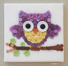 Button Art. Sooo cute! D will love making this