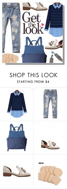 """""""Long Sleeve Striped Women's Blouse"""" by fashion-pol ❤ liked on Polyvore featuring Abercrombie & Fitch and vintage"""