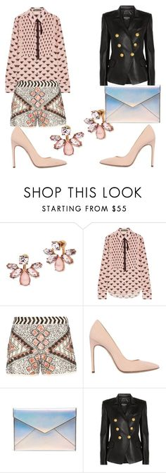 """""""spring evening"""" by babeel on Polyvore featuring Marchesa, Markus Lupfer, Dorothy Perkins, Merlyn, Rebecca Minkoff and Balmain"""