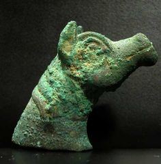 Bronze Head of a Horse -  Origin: Afghanistan Circa: 300 BC to 100 BC Dimensions: 2 (5.1cm) high Collection: Bactrian