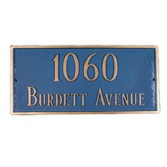 Montague Metal Products Classic Standard Rectangle Address Plaque Finish: Black / Silver, Mounting: Wall