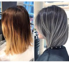 FrenchEconomie™️ Winter 2019 Hairstyles & Hair Colors: Long Bob, Lob, Hairstyle With Dark Ash Brunette Hair Color And Silver Highlights Balayage Hair, Ombre Hair, Gray Balayage, Silver Grey Hair, Dark Grey Hair, Gray Purple Hair, Dark Ash, Gray Hair Highlights, Pinterest Hair