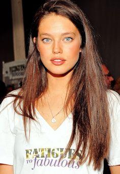 Emily Didonato dark hair + blush