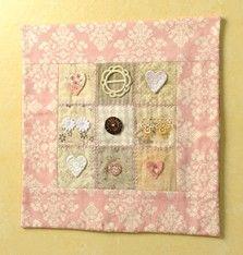 Craft Ideas : Projects : Details : mini-patchwork-heart-sampler
