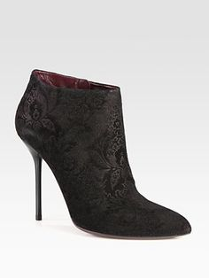 very Prince...Gucci - Noah Suede Brocade Ankle Boots - Saks.com