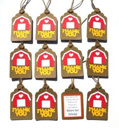 Farm Themed Thank You Favour Tags Personalized by ScrapsToRemember