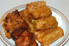 Sarmale fierte in vin Meat Recipes, Cooking Recipes, Romanian Food, Romanian Recipes, Pasta, Chicken Wings, Keto, Dinner, Mai