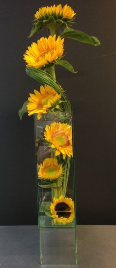 High style sunflowers.............This does make a statement