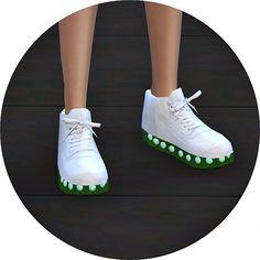 V2 light emission sneakers transparent sole version at Marigold via Sims 4 Updates
