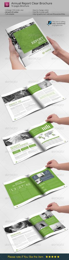 Annual Report Clean Indesign Brochure:
